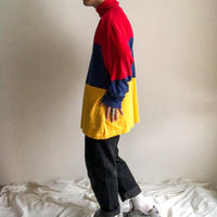 """1990's old """"GAP"""" three tone color turtle neck L/S tee made in USA"""