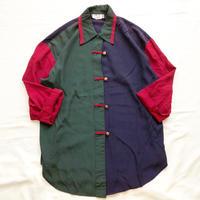 1980's~ USA製 クレイジーパターン チャイナデザイン風 シャツ / 古着 ビンテージ