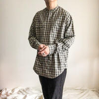 Calvin Klein plaid pattern band collor shirt