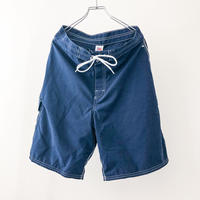 1980's~ navy laceup nylon cargo shorts made in USA