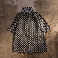 1990's~ 総柄 半袖 シルクシャツ  / 古着 ビンテージ