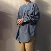 1990's~ バンドカラー デニムシャツ / 古着 ビンテージ