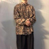 1990's~ イタリアデザイン 総柄 シルクシャツ / 古着 ビンテージ