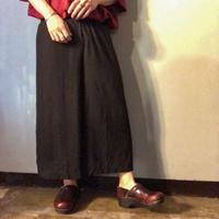 1980's~ USA製 ブラック レーヨン 袴パンツ / 古着 ビンテージ