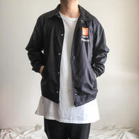 "1990's~ ""THE HOME DEPOT"" black nylon coach jacket"