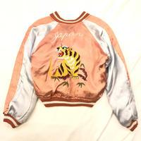 Vintage 1950s サテン ピンク×ブラック スーベニアジャケット スカジャン /古着 ビンテージ