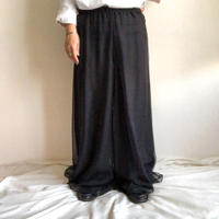1980's~ black super wide pants made in USA