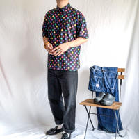 1980's~ polka dot pattern S/S shirt
