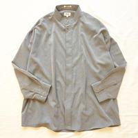ビッグシルエット バンドカラーシャツ / 古着 ビンテージ