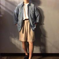 Vintage ~1960's イタリア製 シャンブレーシャツ / 古着 ビンテージ
