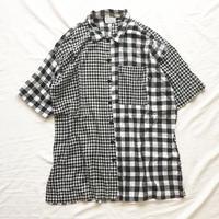 1980's~ インド綿 チェック柄 クレイジーパターン 半袖シャツ / 古着 ビンテージ