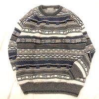 1990's~ イタリア製 3D 総柄 セーター / 古着 ビンテージ