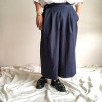 1980's~ Gurkha style navy color wide pants made in USA