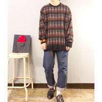 1990's~ デザイン 総柄セーター / 古着 ビンテージ