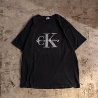 """1990's~ ブラック """"CK"""" christ is king Tシャツ / 古着 ビンテージ"""