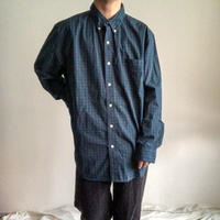 "Ralph Lauren ""CHAPS"" bigsize black watch cotton L/S shirt"