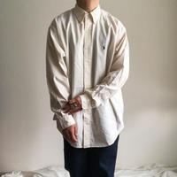 """1990's~ """"Ralph Lauren"""" BD white cotton L/S shirt"""