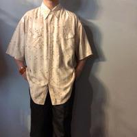 1990's~ 花柄  シルク ウエスタンシャツ / 古着 ビンテージ