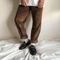 1990's~ brown color corduroy pants