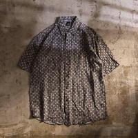 1990's~ 総柄 シルク 半袖シャツ / 古着 ビンテージ