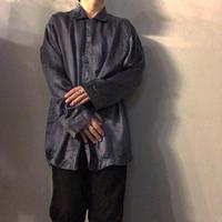 1990's~ 千鳥格子柄 シルク パジャマシャツ / 古着 ビンテージ