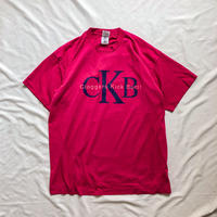 "~1990's ""CK"" parody pink S/S tee made in USA"