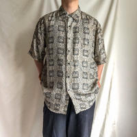 1990's~ design silk S/S shirt