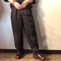 1990's~ ブラック リネンパンツ / 古着 ビンテージ