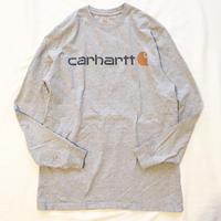 Carhartt カーハート グレー  ロゴプリント ロングTシャツ / 古着 ビンテージ ロンtee