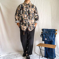 1990's~ art design cotton L/S shirt