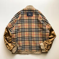 """1990's~ """"Burberrys"""" beige blouson with burberry  check liner"""