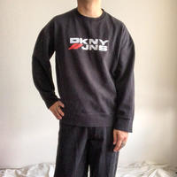 1990's~ DKNY black logo print sweat made in Mexico