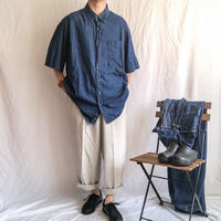 1990's~ super bigsize BD denim S/S shiit