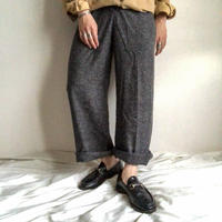 2000's~ gray color nep slacks pants
