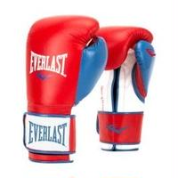 POWERLOCK HOOK & LOOP TRAINING GLOVES WITH SYNTHETIC LEATHER(RED/BLUE)