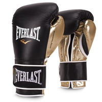 POWERLOCK HOOK & LOOP TRAINING GLOVES(BLACK/GOLD)
