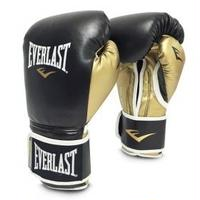 POWERLOCK HOOK & LOOP TRAINING GLOVES WITH SYNTHETIC LEATHER(BLACK/GOLD)