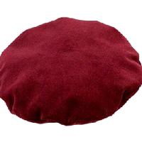 ヴィンテージダークレッドベレー帽