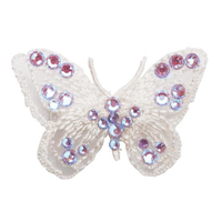 Art A93 hair clip Butterfly in pink