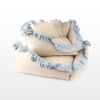Linen Ruffle Cushion Stripe_Large Size