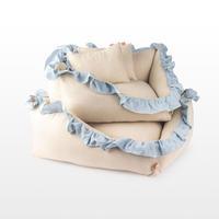 Linen Ruffle Cushion Stripe_Small Size