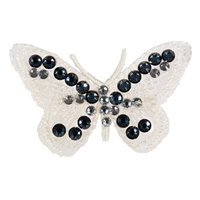 Art A89 hair clip Butterfly in blue-ivory