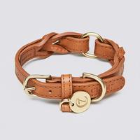 Dog Collar Hyde_Park Cognac(S)