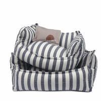 Gentle Navy Stripe Cushion  S  size