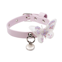 Art f1489 collar Butterfly in pink