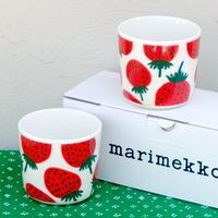 マリメッコ marimekko <Mansikka>コーヒーカップ2個セット
