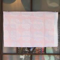 マリメッコ marimekko <Puketti>コーティング・コットン・ファブリック(ピンク×ホワイト)50×76cm 日本未入荷