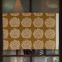 マリメッコ marimekko <Puketti>キャンバス・ファブリック(カーキ×オレンジ)50×78cm 日本未入荷