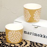 マリメッコ marimekko <Puketti>コーヒーカップ2個セット(ベージュ)日本限定