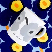 マリメッコ marimekko <Unikko>OLDマグカップ(ライトグレー)